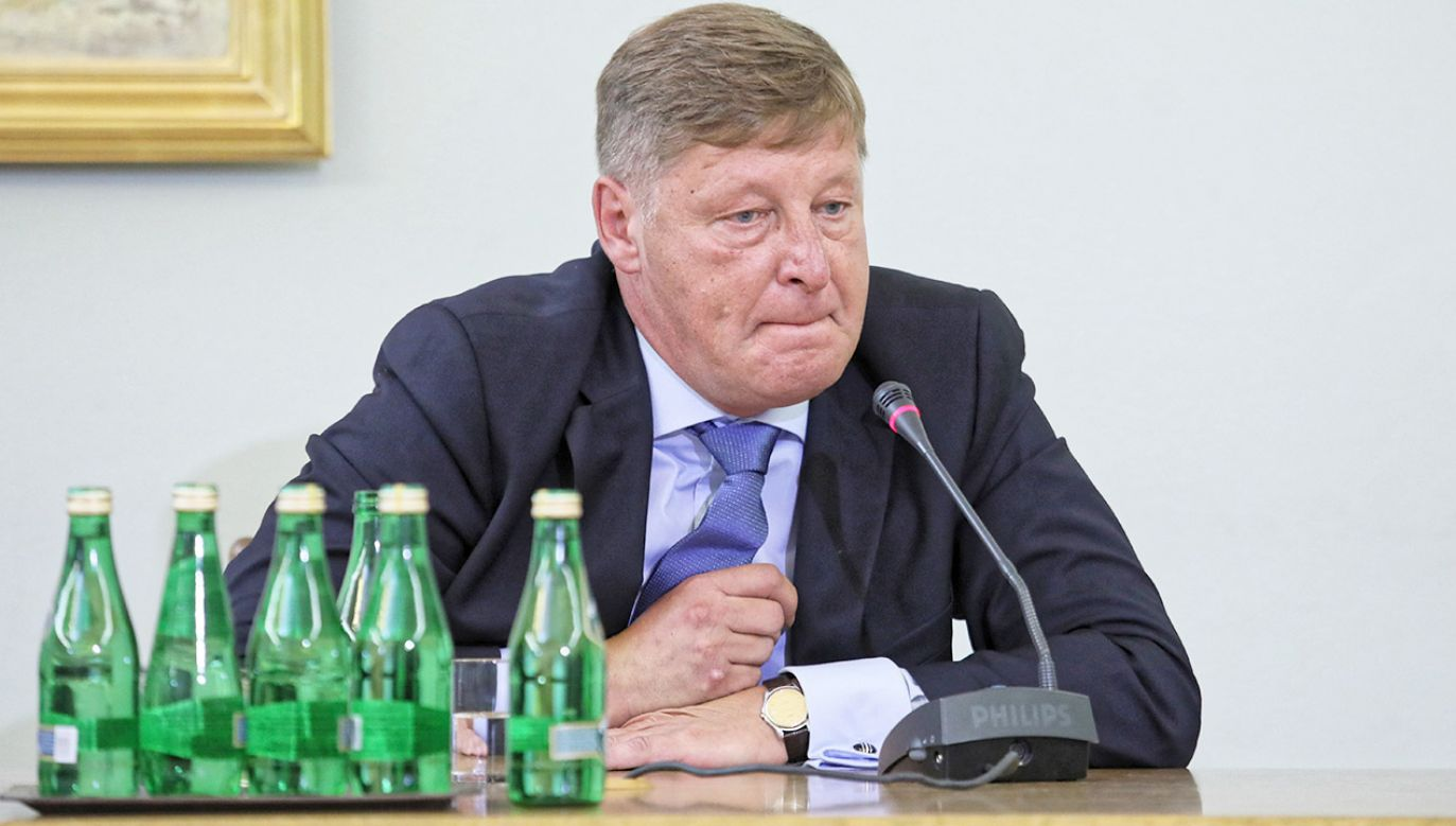 Wiceminister Andrzej Parafianowicz zeznawał wczoraj przed komisją ds. Amber Gold (fot. PAP/Leszek Szymański)