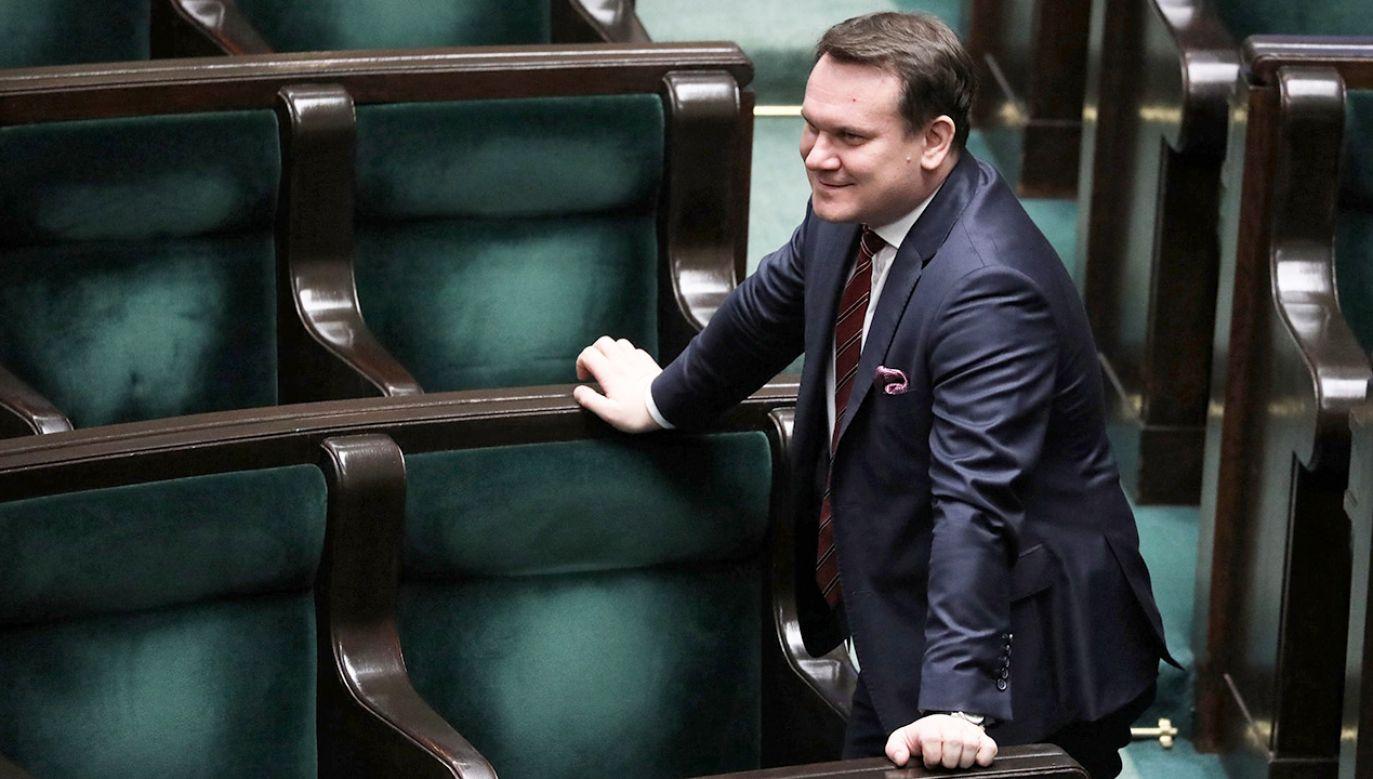 Poseł Dominik Tarczyński (fot. arch.PAP/Tomasz Gzell)