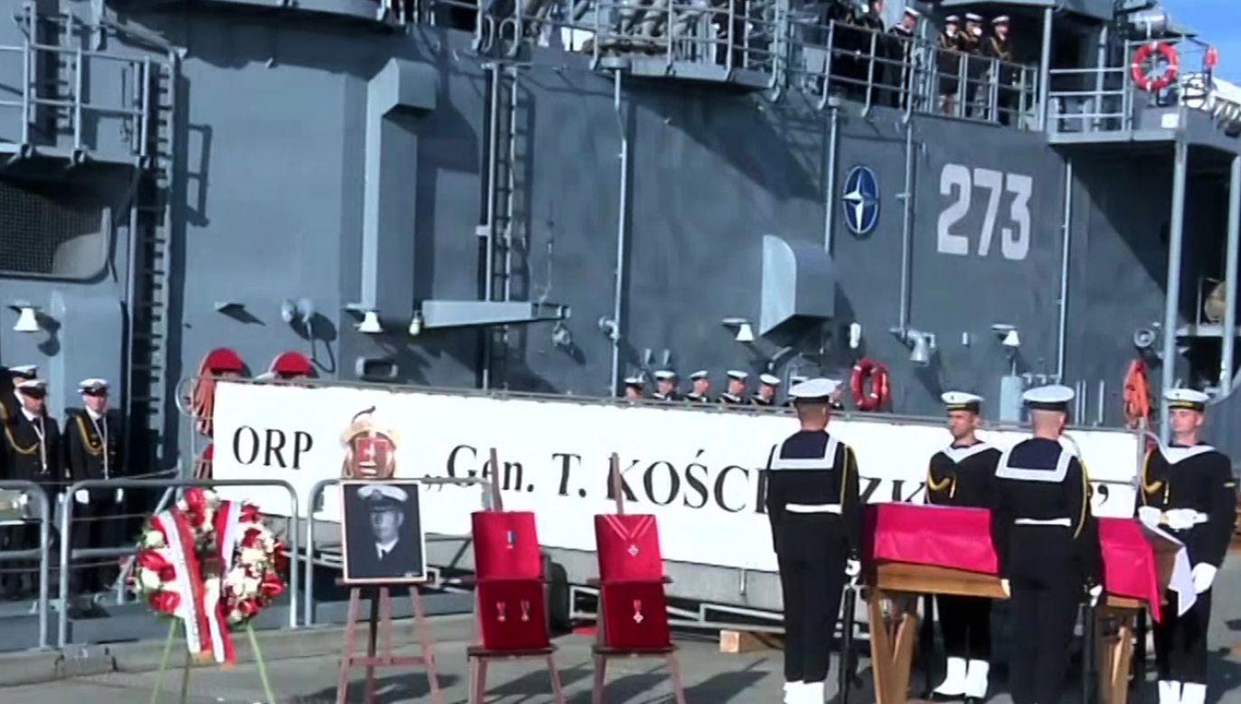 Prochy admirała zostaną przewiezione do Polski (fot. TVP Info)