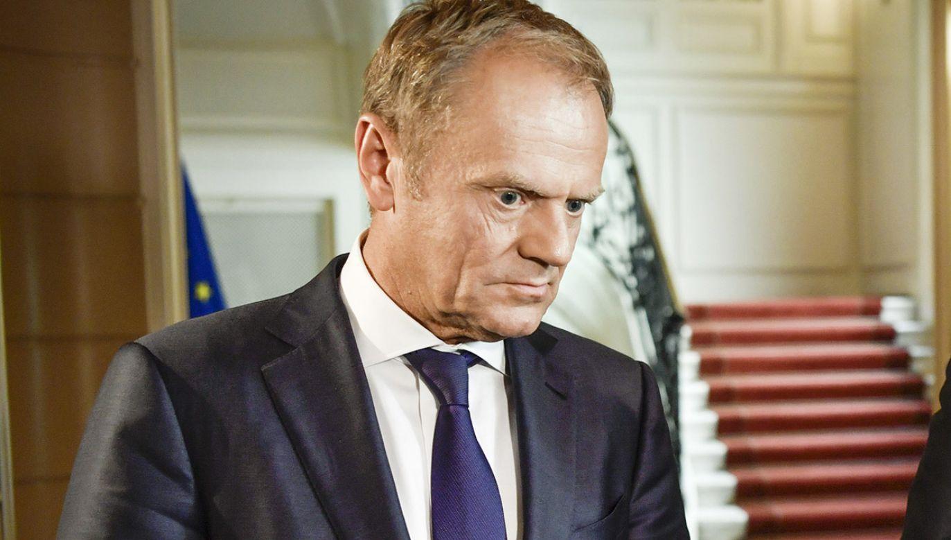 Donald Tusk chciał wprowadzić Polskę do strefy euro przed upływem 2011 r. (fot. PAP/EPA/ERIK SIMANDER)