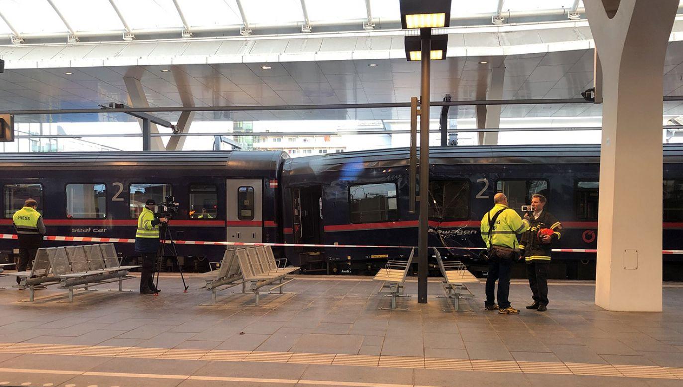 Zderzenie pociągów w Salzburgu. Wielu rannych (fot. tt/@HansSchrama)