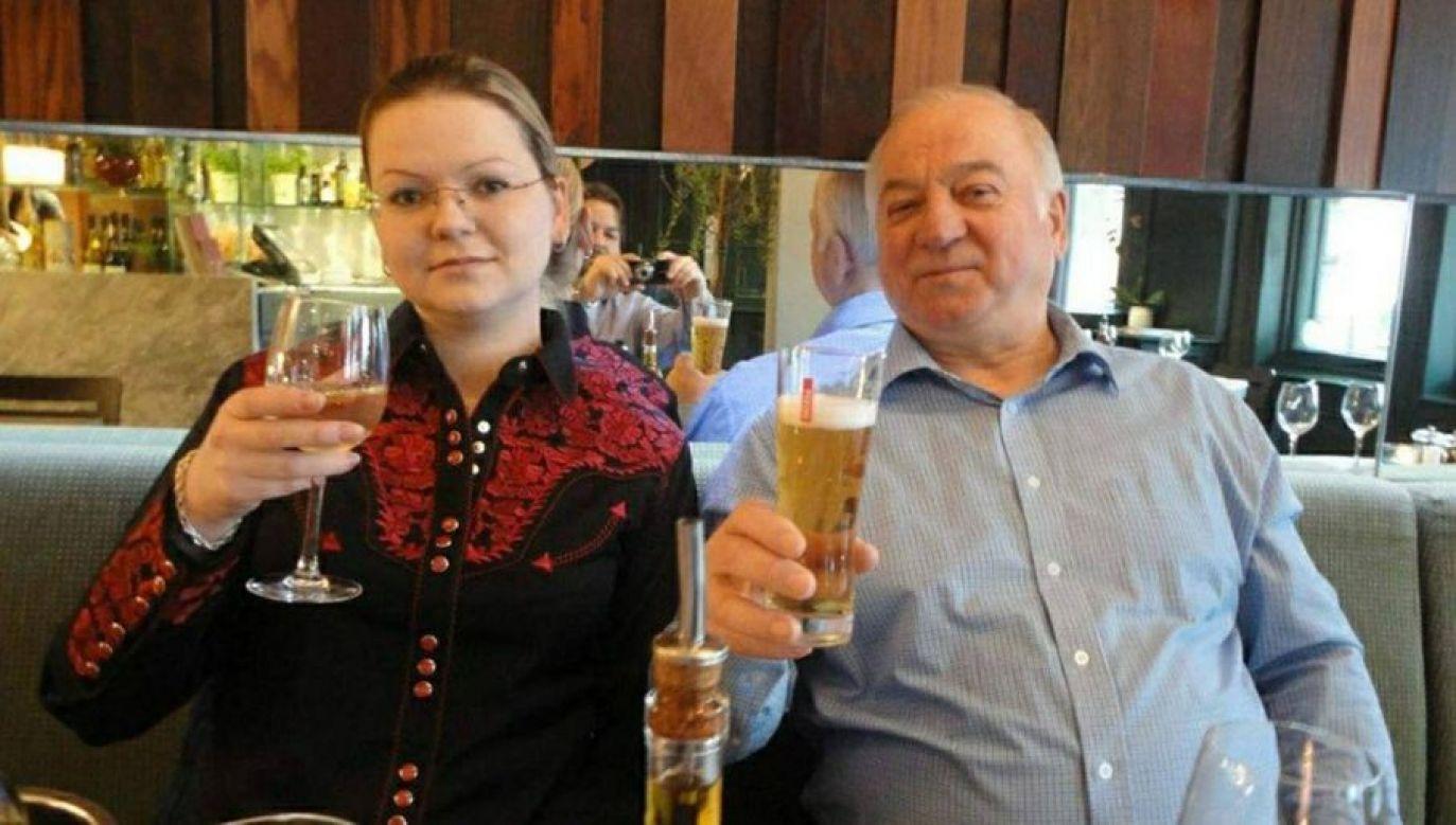 Siergiej Skripal z córką, która również została otruta (fot. PAP/RUSSIAN LOOK )