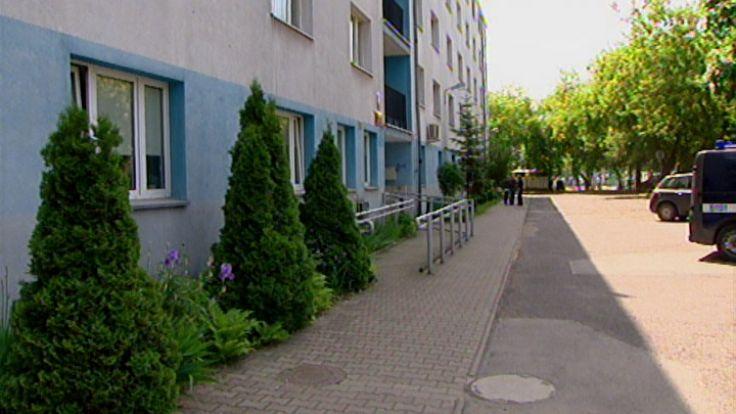 (Komisariat przy ul. Trzemeskiej fot. TVP3 Wrocław)