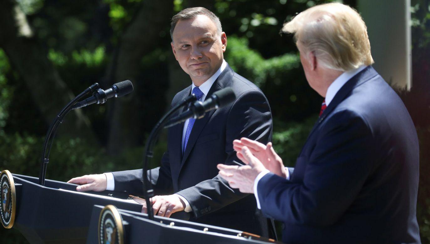 W środę w Waszyngtonie prezydenci Andrzej Duda i Donald Trump podpisali deklarację o współpracy obronnej, która przewiduje m.in. zwiększenie stałej rotacyjnej obecności wojsk USA (fot. REUTERS/Leah Millis)