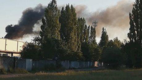 Pożar hali przy Cukrowej