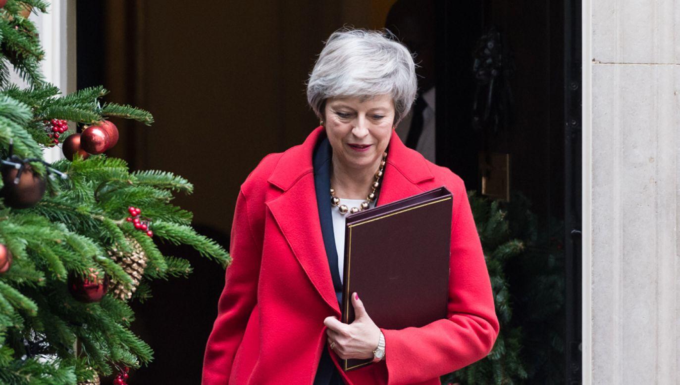 """Jak donosi """"Sunday Times"""", premier May może próbować renegocjować warunki brexitu (fot. Wiktor Szymanowicz / Barcroft Media via Getty Images)"""