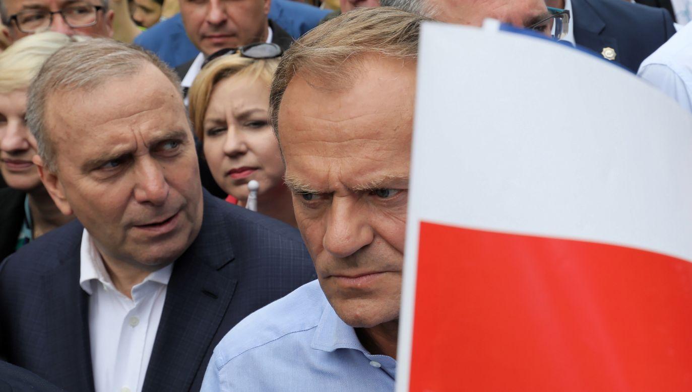 Szef RE przemawiał podczas Marszu Koalicji Europejskiej  (fot. PAP/Paweł Supernak)