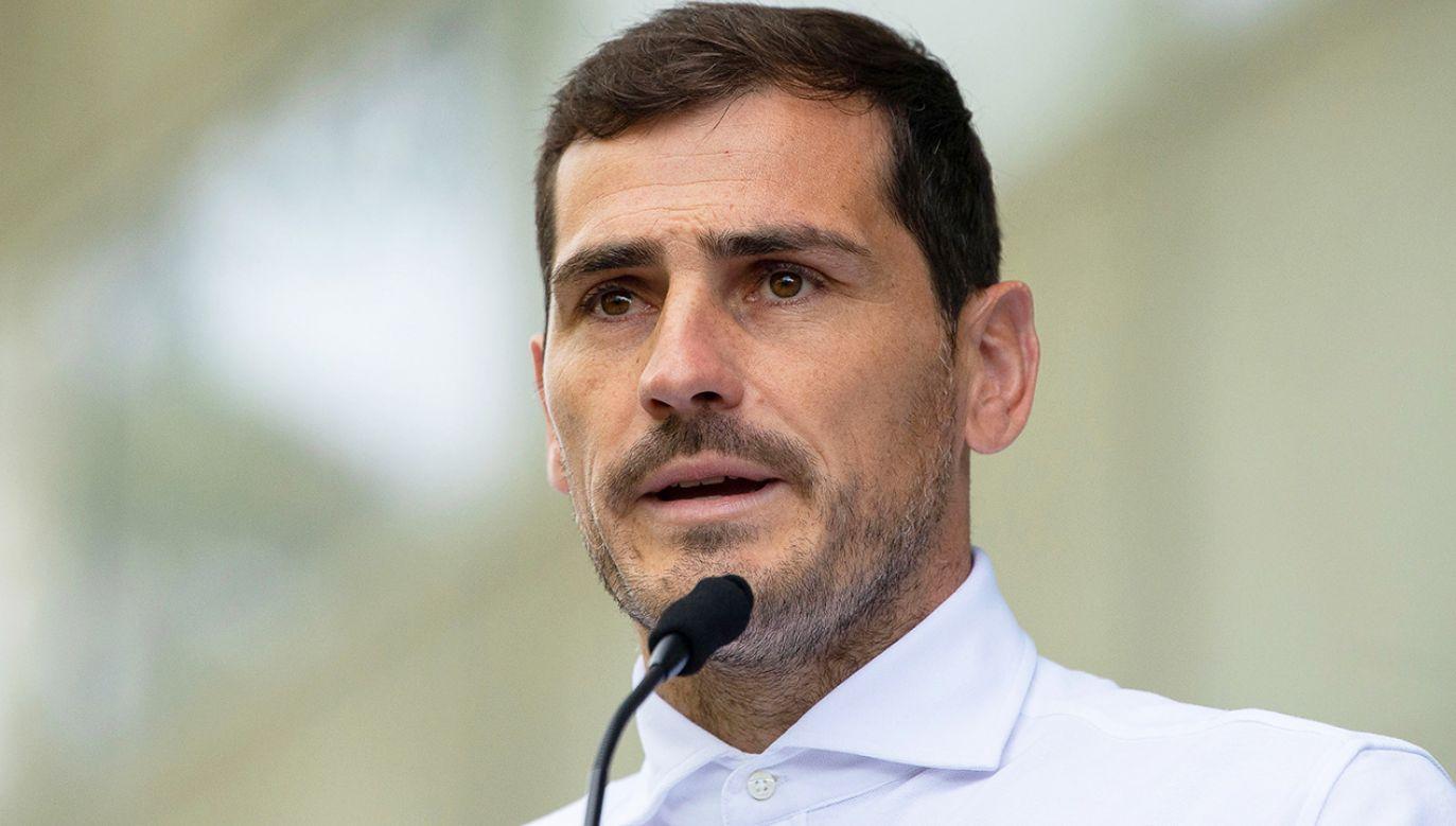 Iker Casillas miał atak serca podczas treningu (fot. PAP/EPA/RUI FARINHA)