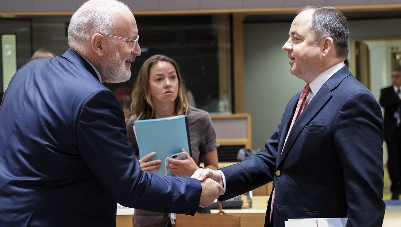Szymański: W Radzie UE nie ma większości przeciwko Polsce (fot. PAP/EPA/OLIVIER HOSLET)