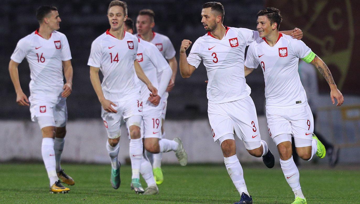 Dzięki dzisiejszej wygranej Biało-Czerwoni awansowali na mistrzostwa Europy U-21, które odbędą się w przyszłym roku we Włoszech i San Marino (fot. PAP/EPA/PEDRO SARMENTO COSTA)