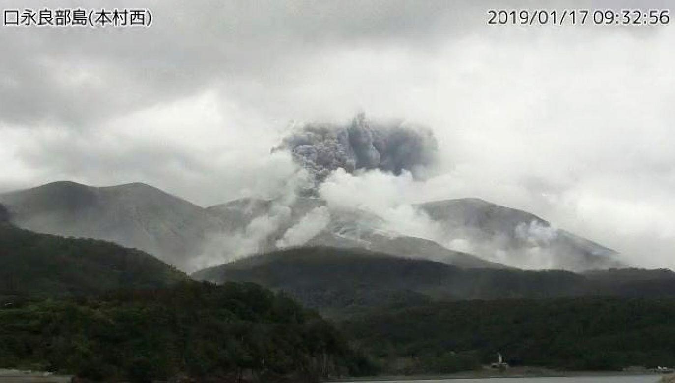 Moment wybuchu zarejstrowany przez Japońską Agencję Meteorologiczną (fot. Reuters)