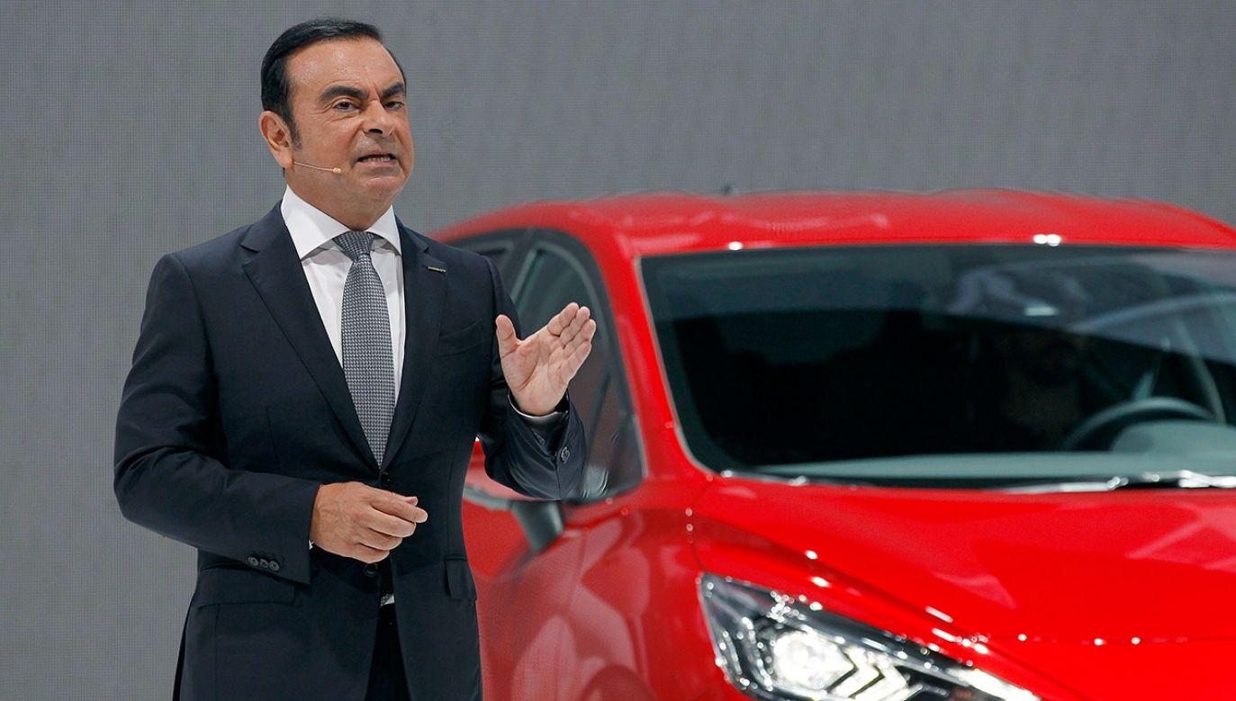 Carlos Ghosn wyprowadził na prostą balansujący na skraju bankructwa koncern Nissan (fot. Chesnot/Getty Images)
