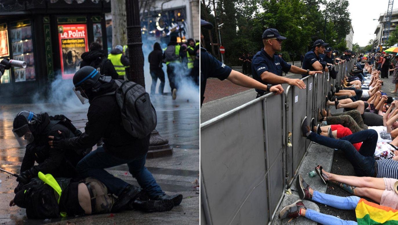 Znany z ataków na polski rząd wiceszef KE został zapytany o brak reakcji na brutalność francuskiej policji (fot. PAP/EPA/JULIEN DE ROSA/arch.PAP/B.Zborowski)