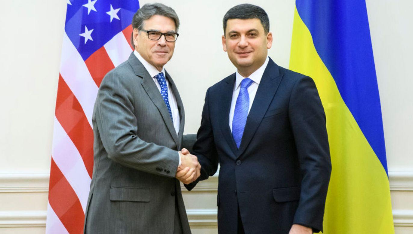 Rick Perry spotkał się m.in. z premierem Wołodymyrem Hrojsmanem (fot. Maxym Marusenko/NurPhoto via Getty Images)