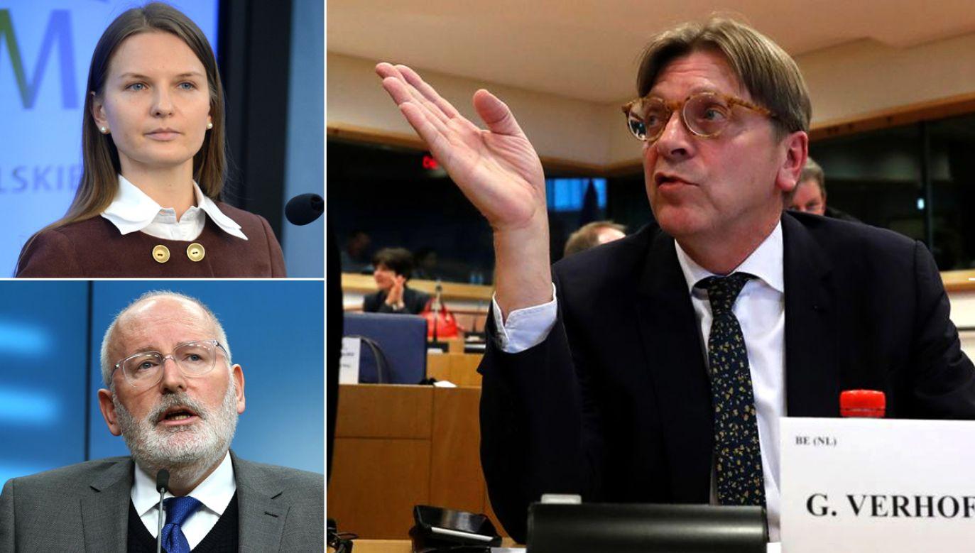 Zdaniem Verhofstadta decyzja o deportacji Kozłowskiej ma być motywowana politycznie (fot. PAP/Bartłomiej Zborowski/Dursun Aydemir/Anadolu Agency/Getty Images/REUTERSYves Herman)