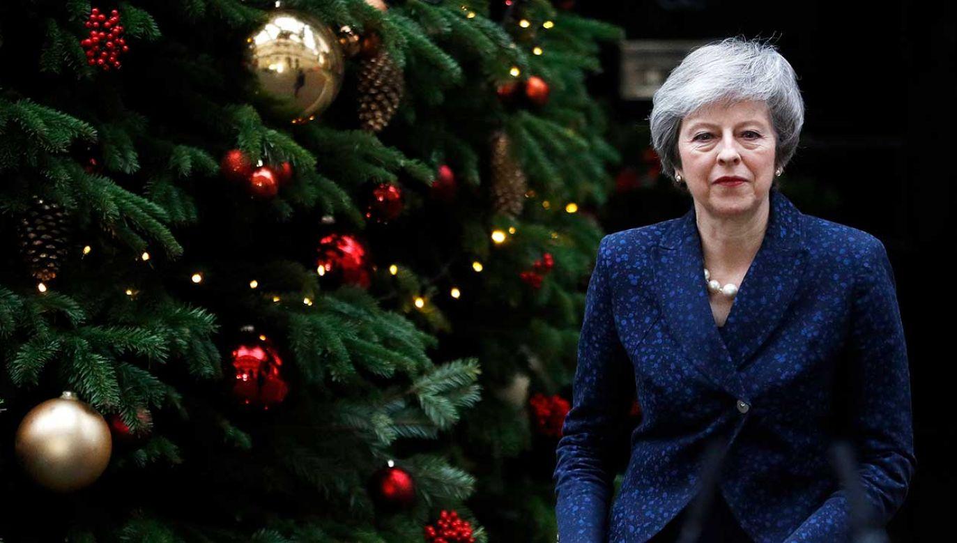 """Zdaniem premier Wielkiej Brytanii, rozpisanie wyborów parlamentarnych """"nie byłoby w interesie narodowym"""" (fot. REUTERS/Peter Nicholls)"""