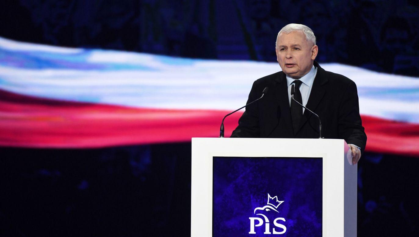 Podczas konwencji przemówienie wygłosi m.in.prezes PiS Jarosław Kaczyński  (fot. arch. PAP)