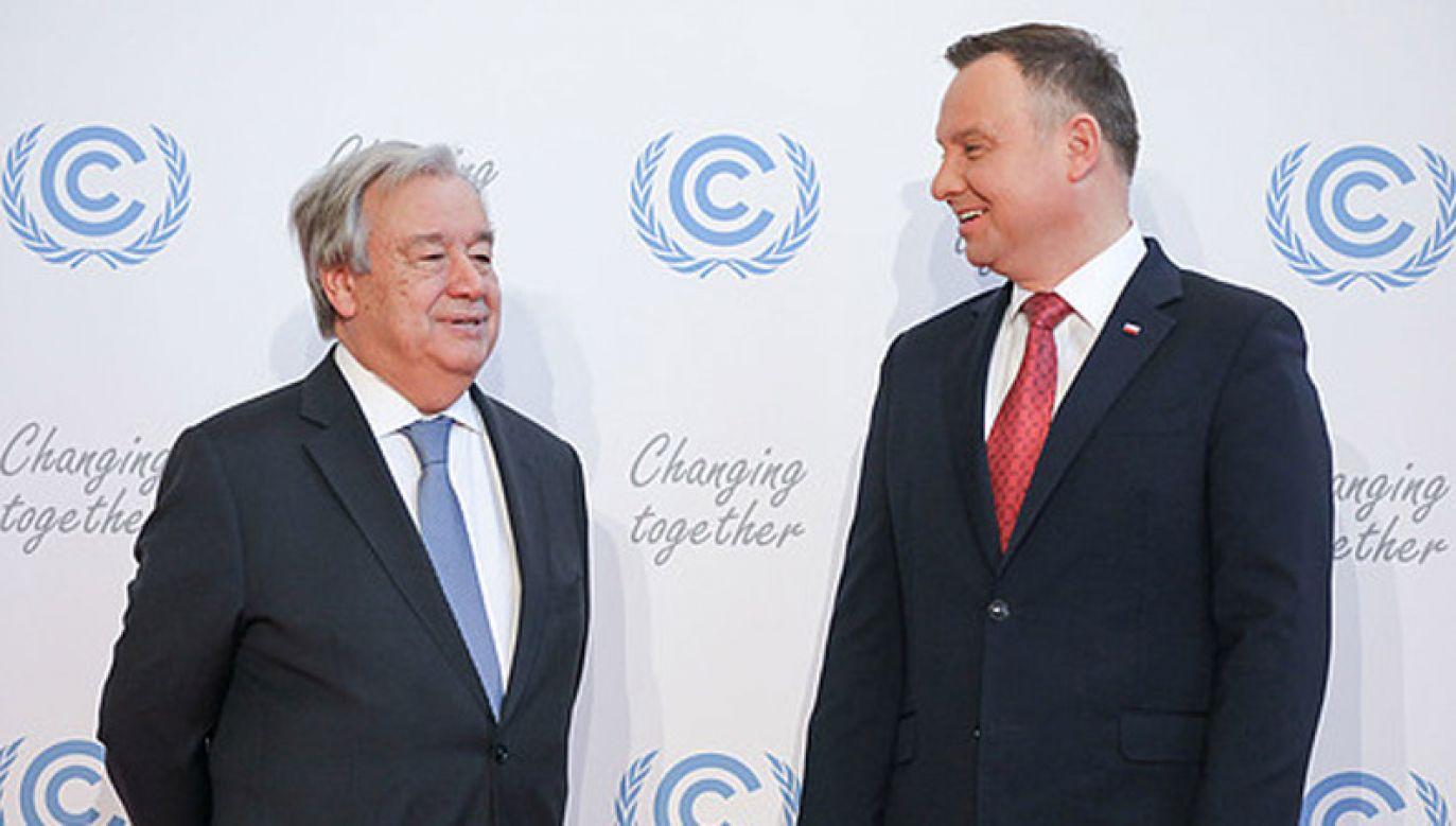 Do spotkania prezydenta Dudy z sekretarzem generalnym ONZ António Guterresem dojdzie w Katowicach (fot. KPRP/Jakub Szymczuk)