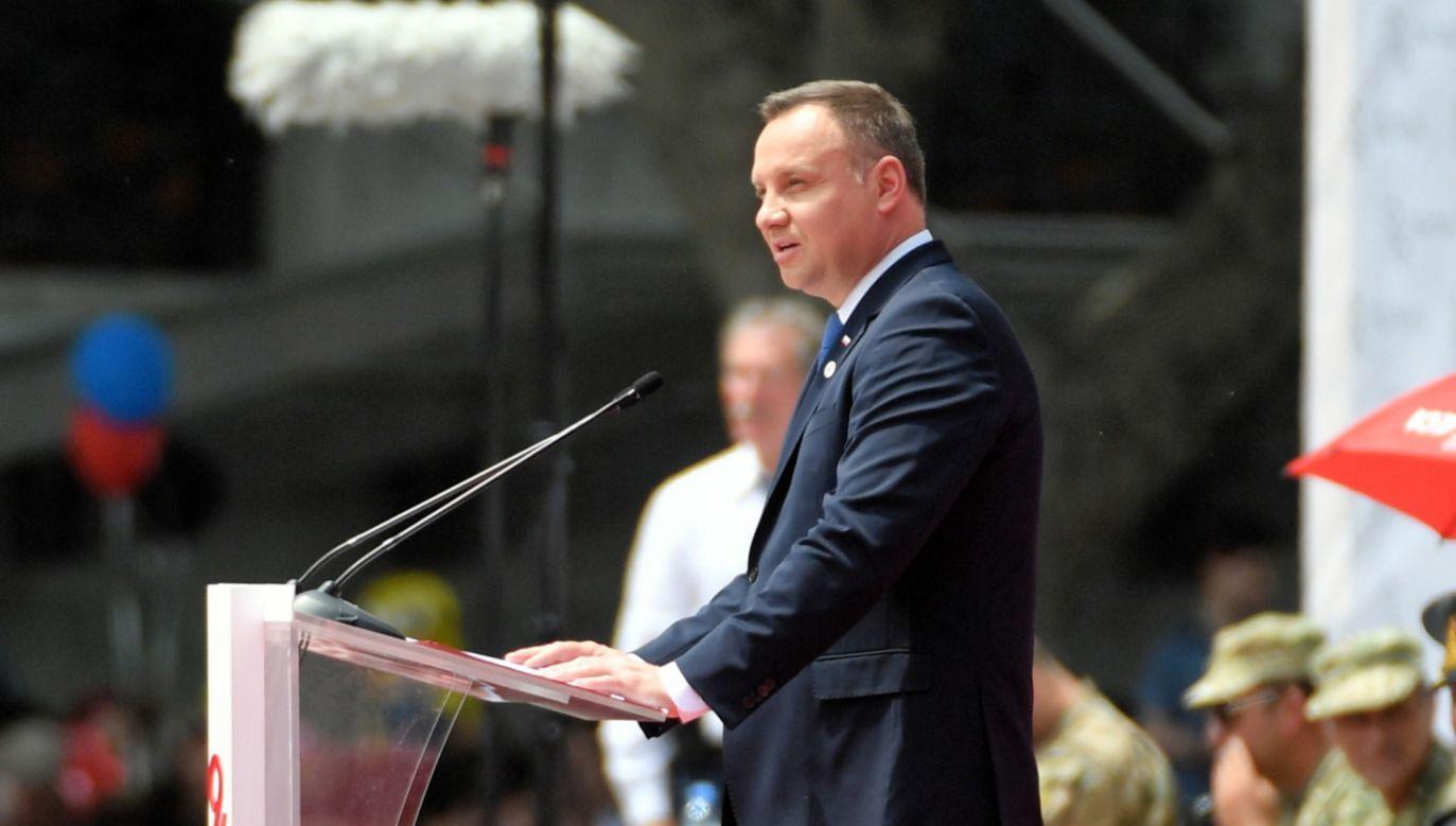 Prezydent wziął udział w uroczystościach z okazji 100-lecia proklamowania I Demokratycznej Republiki Gruzji  (fot. PAP/Bartłomiej Zborowski)