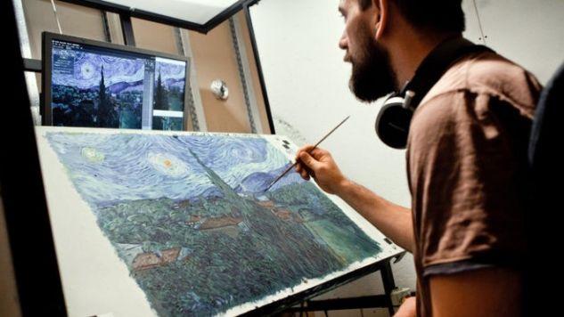 Bartosz Armusiewicz to jeden ze 125 artystów, którzy pracowali przy filmie (fot. Piotr Małecki/The New York Times)