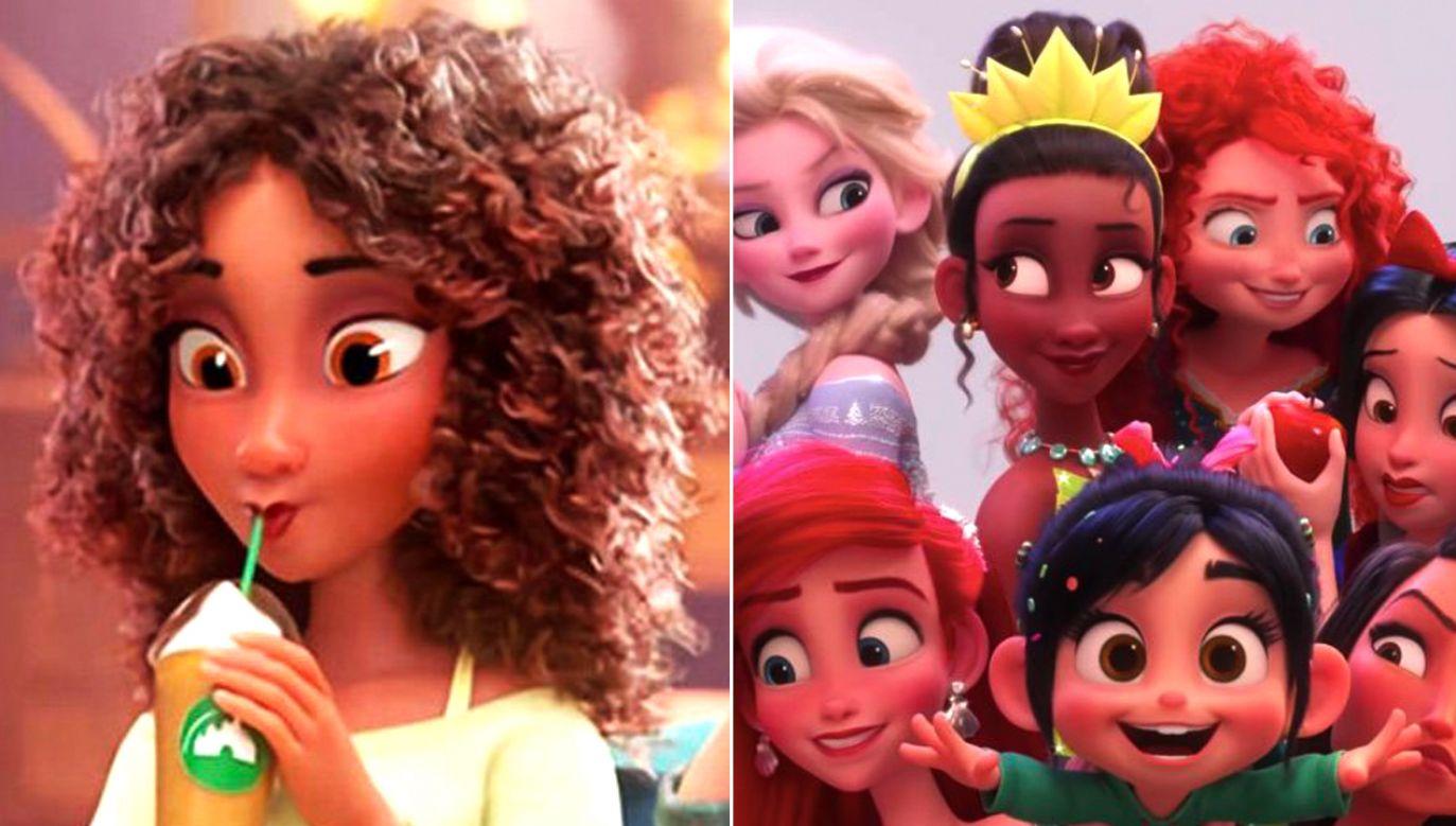 """Fani skarżyli się, że studio rozjaśniło kolor skóry bohaterki w """"Ralph Demolka w Internecie""""(fot. TT/ColorOfChange.org)"""