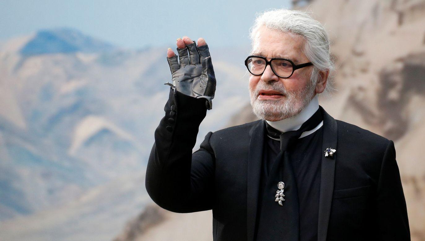 Karl Lagerfeld w październiku 2018. Fot. REUTERS/Stephane Mahe