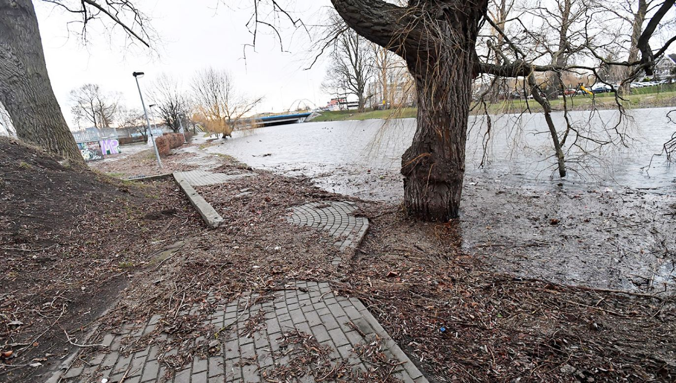Strażacy wyjeżdżali wczoraj 67 razy w związku z opadami deszczu i przyborami wód (fot. PAP/Marcin Bielecki)