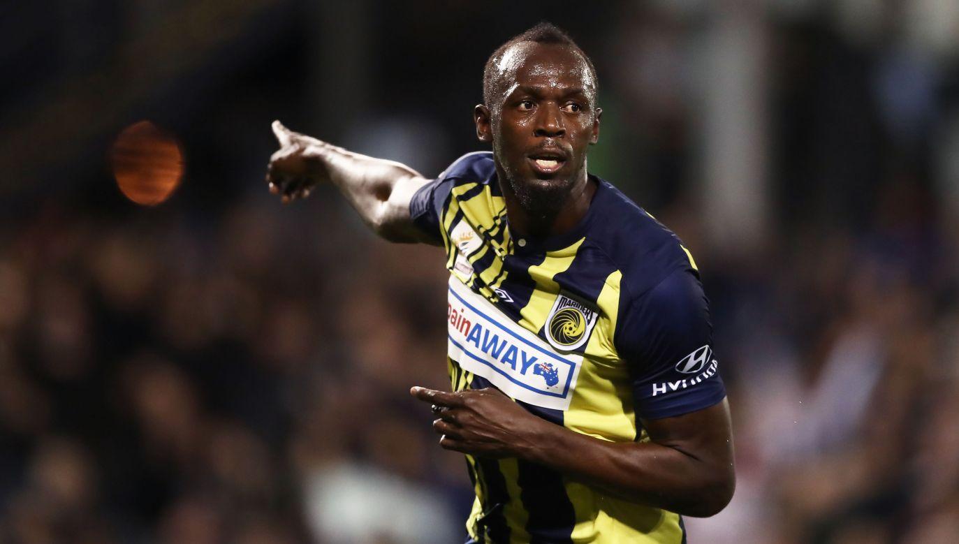 Bolt wystąpił w kilku meczach towarzyskich, grając z numerem 95 (fot. Matt King/Getty Images)