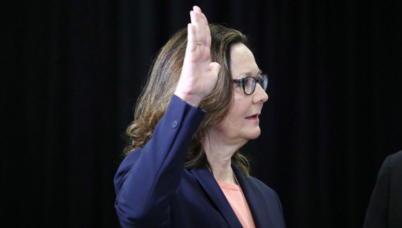 Gina Haspel złożyła przysięgę w siedzibie CIA (fot. PAP/EPA)