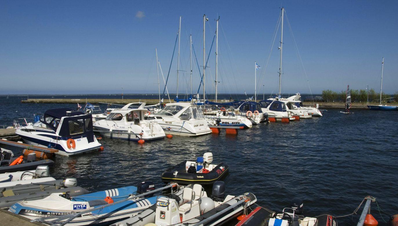 Obecna marina w Pucku (fot. PAP/DPA)