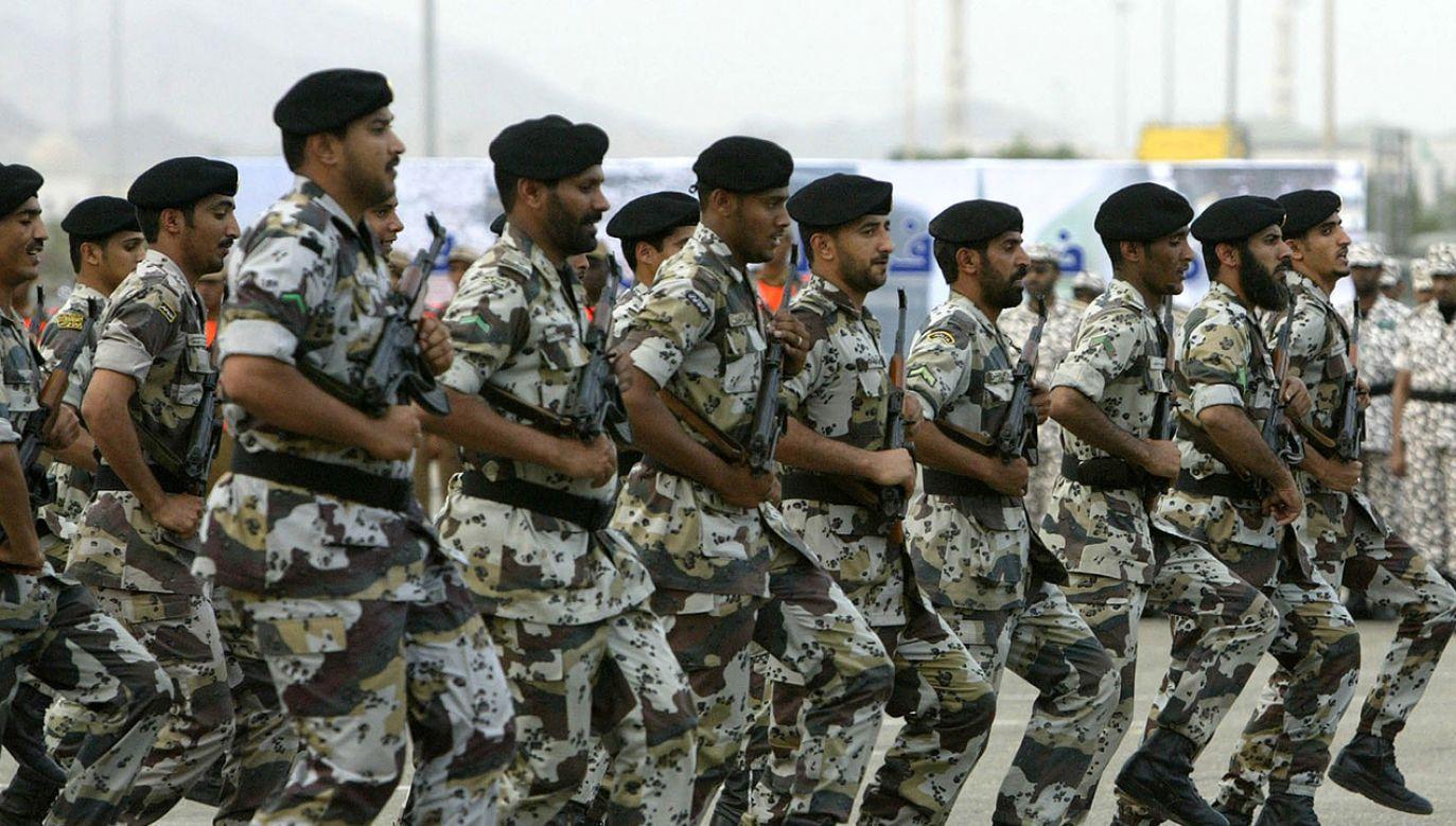 Żołnierze saudyjskich sił bezpieczeństwa (fot. Muhannad Fala'ah/Getty Images)