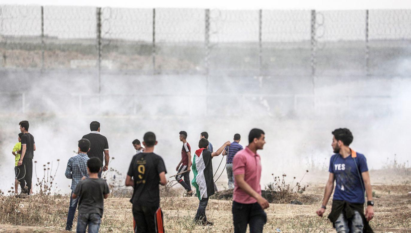 Wymiana ognia nastąpiła po zamknięciu przez Izrael przybrzeżnej strefy dla rybaków z Gazy (fot. PAP/EPA/MOHAMMED SABER)