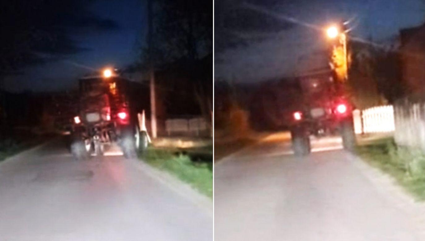 Pijany traktorzysta - recydywista został zatrzymany (fot. KPP Pińczów)
