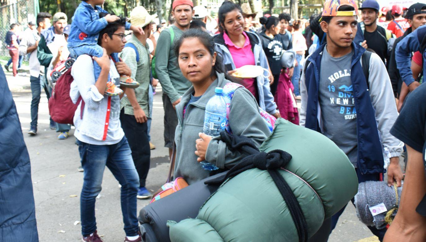 Ponad 4 tys. migrantów z Hondurasu dotarło do granicy Meksyku z USA (fot. Carlos Tischler/Getty Images)