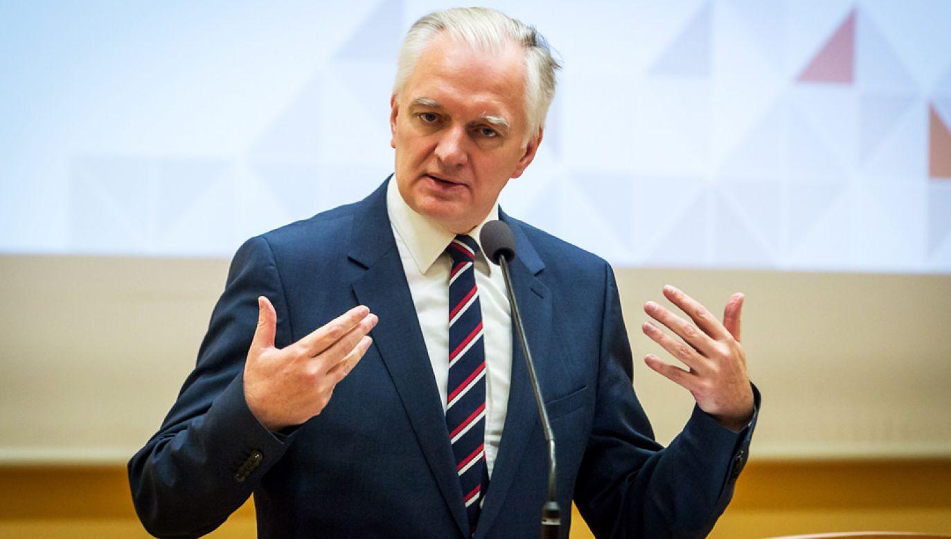 Wicepremier, minister nauki i szkolnictwa wyższego Jarosław Gowin (fot. PAP/Tytus Żmijewski)