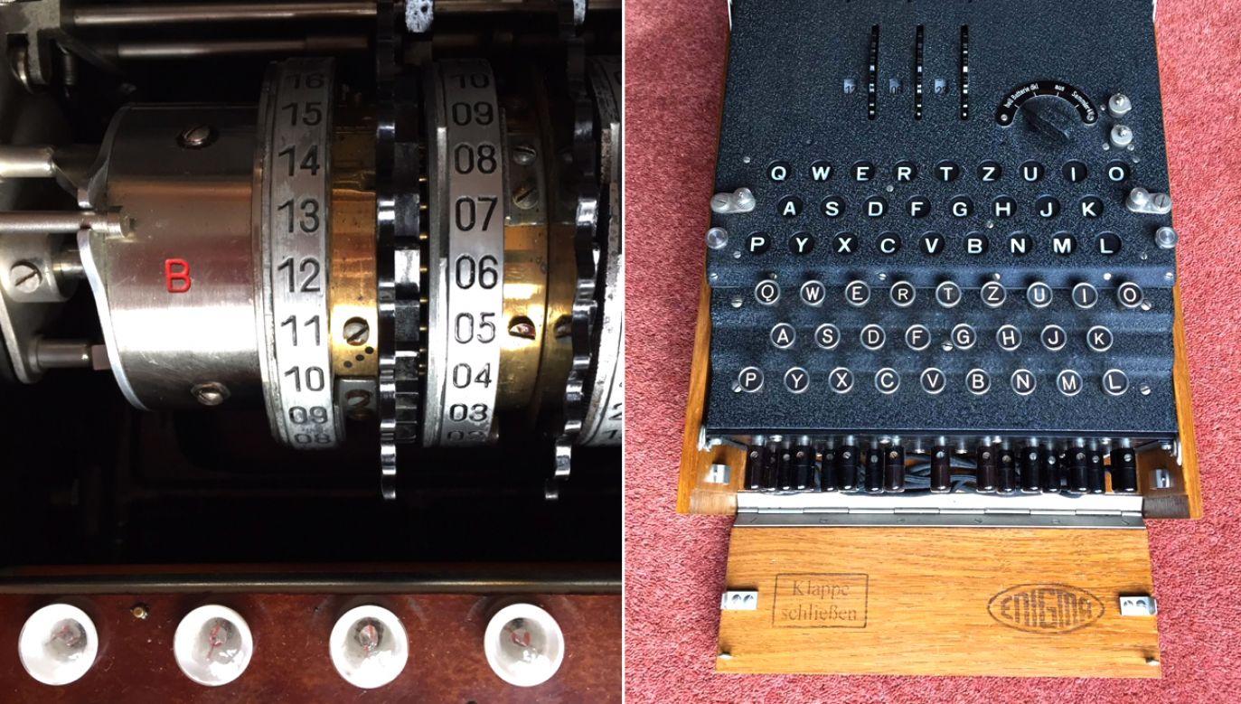 Enigma jest w doskonałym stanie, a jej zewnętrzny wygląd odpowiada oryginalnej, dobrze zachowanej maszynie Enigma I (fot. Muzeum Historii Polski)