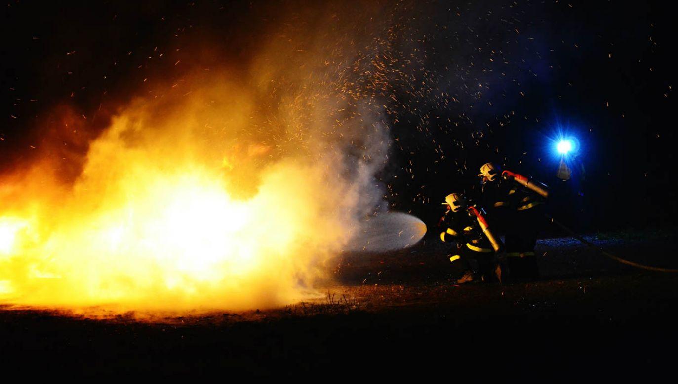 Na miejscu jest dziewięc zastępów straży pożarnej (fot. Pexels/petkation)