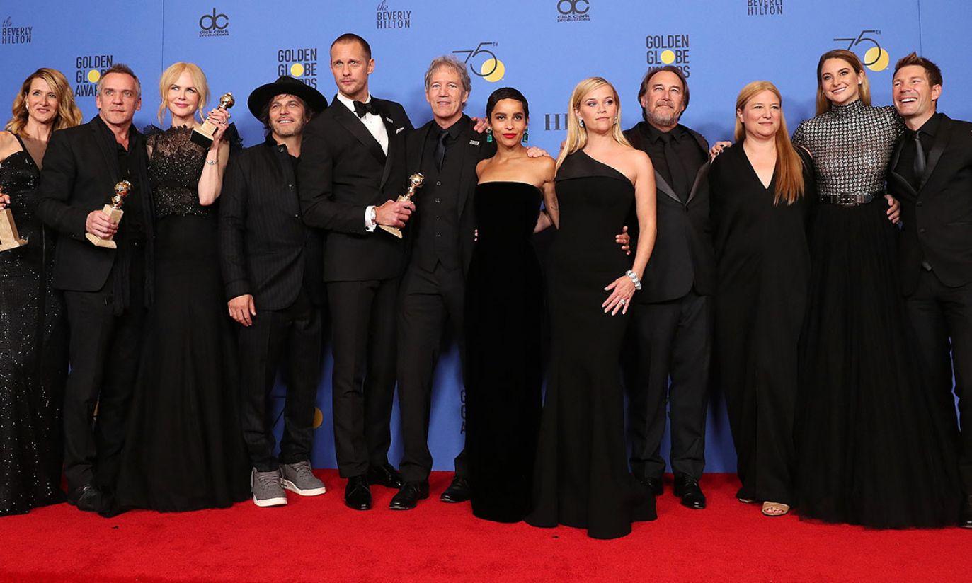 """Ekipa miniserialu HBO - """"Wielkie kłamstewka"""" (fot. EPA/PAP)"""