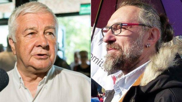 Krzysztof Łoziński (L), mowy lider KOD i Mateusz Kijowski (fot. fb/Krzysztof Łoziński/Mateusz Kijowski)