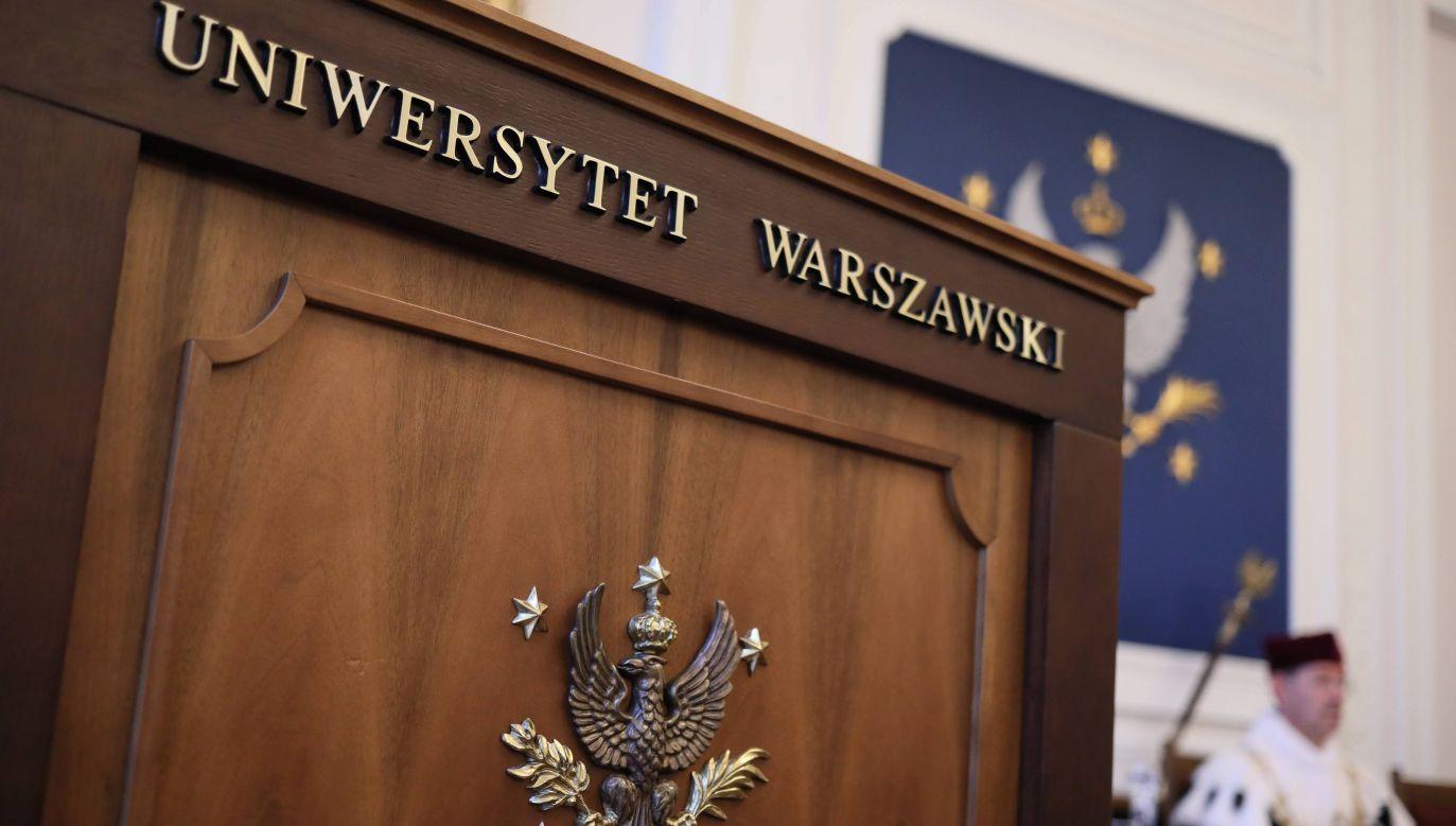 Sala wykładowa Uniwersytetu Warszawskiego (fot. arch. PAP/Leszek Szymański)