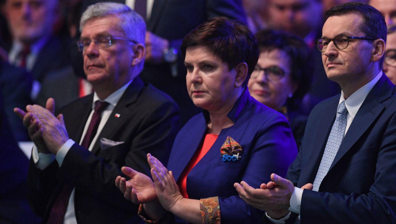 Prawo i Sprawiedliwość zaprezentowało na konwencji nowe obietnice (fot. PAP/Radek Pietruszka)