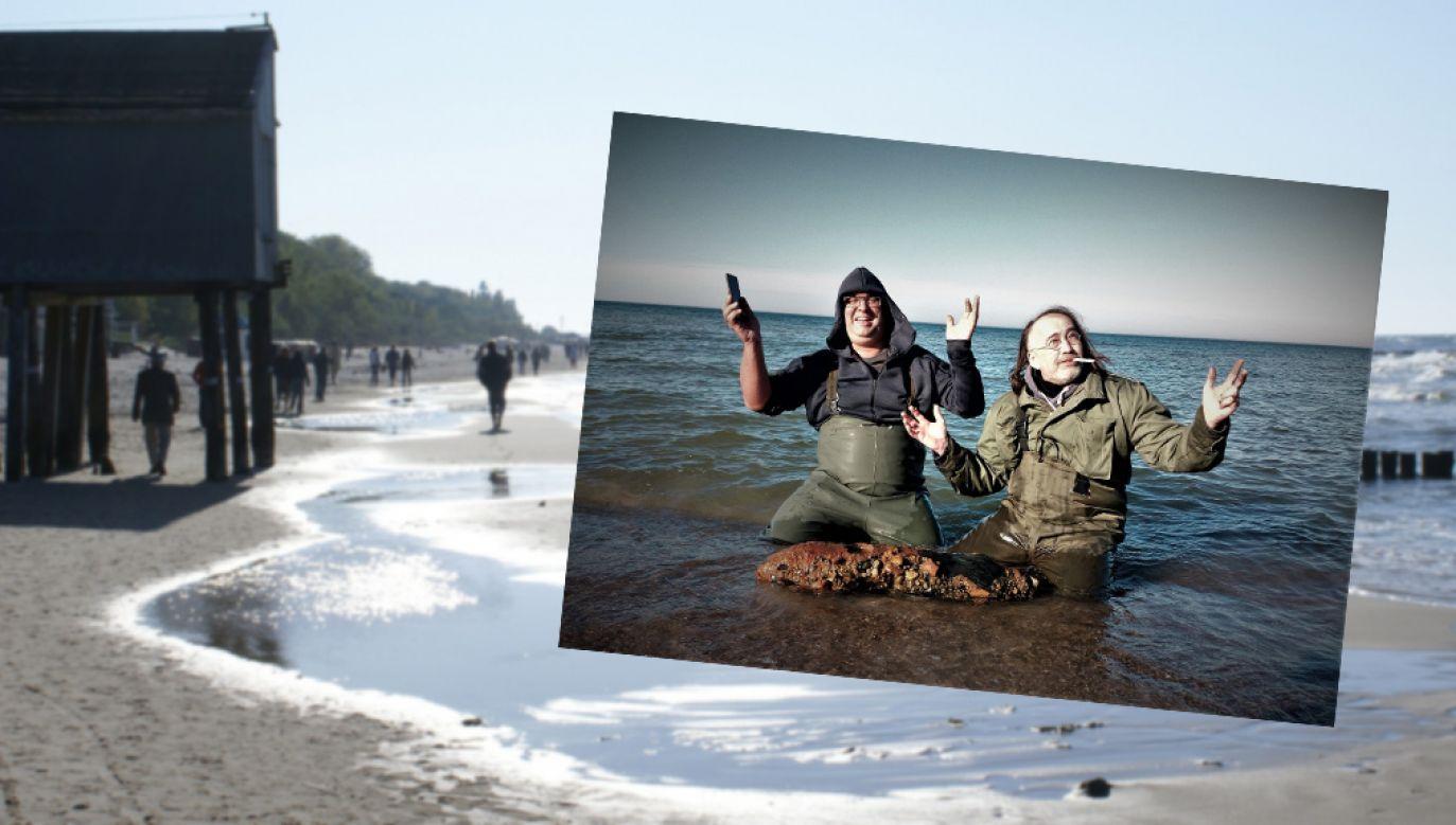 Na kołobrzeskiej plaży Robert Maziarz z kolegą znaleźli niewybuch (fot. flickr.com/Michael Schneider/FB Roberta Maziarza)