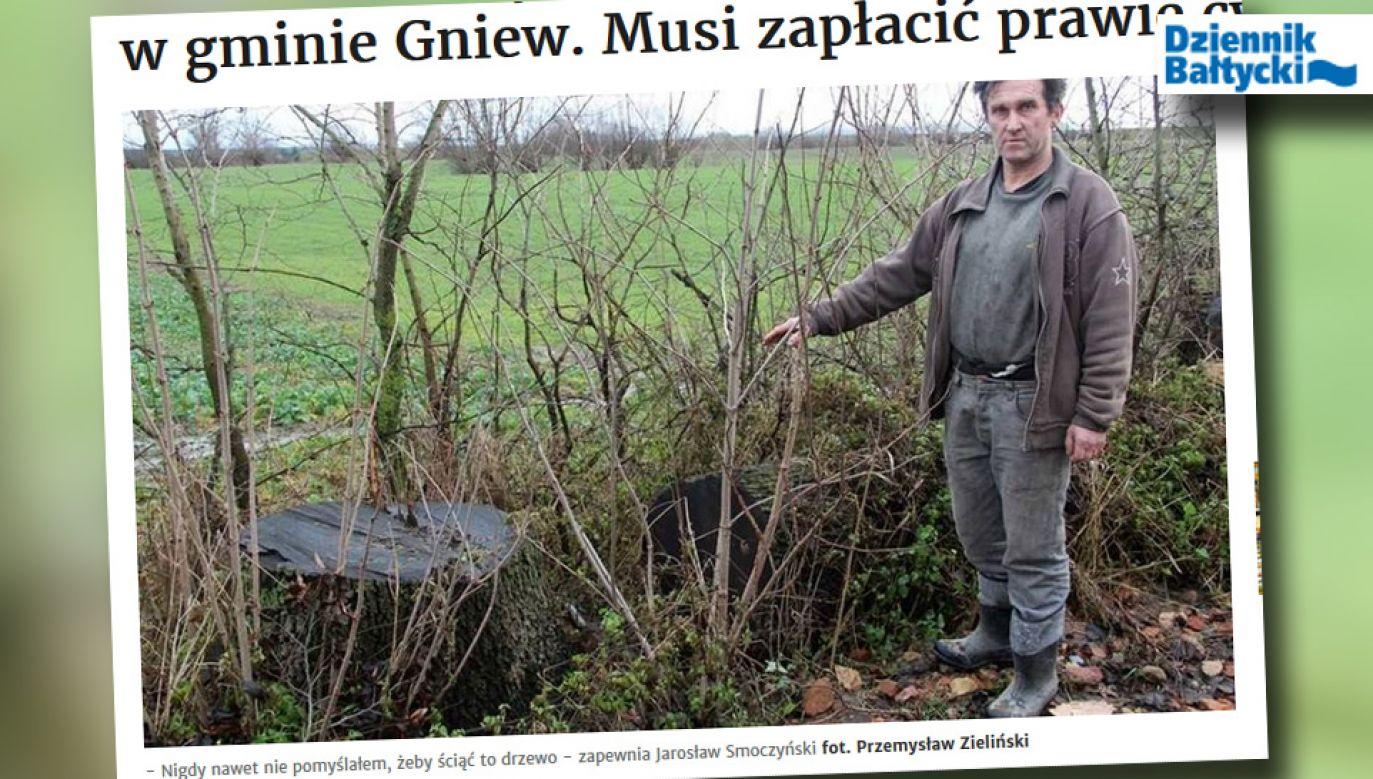 Rolnik chce się bronić przed sądem (fot. dziennikbaltycki.pl)