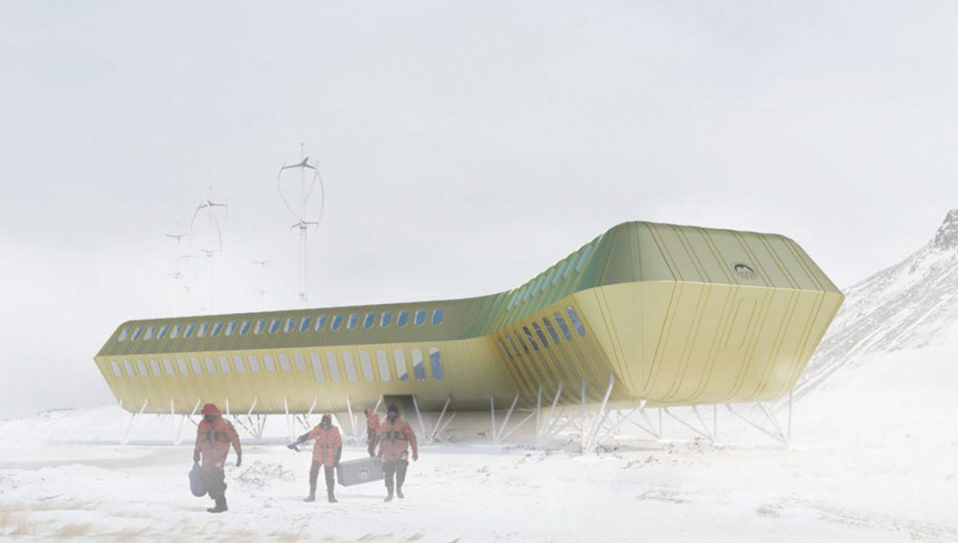 Elewacja budynku pokryta będzie żółtozłotą blachą - nierdzewnym stopem aluminium i miedzi (fot. Materiały prasowe/Kuryłowicz & Associates)