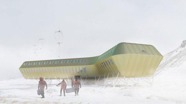 Elewacja budynku pokryta będzie żółtozłotą blachą - nierdzewnym stopem aluminium i miedzi (fot. Materiały prasowe)