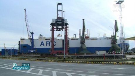 Amerykański transportowiec w gdańskim porcie