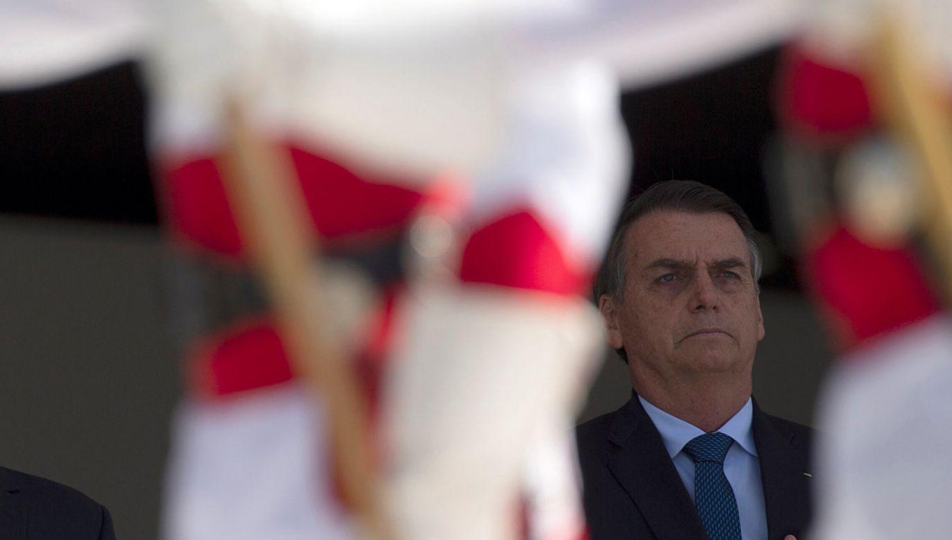 Human Rights Watch do grona autokratów zaliczyło m.in. nowego prezydenta Brazylii Jaira Bolsonaro (fot. PAP/EPA/JOEDSON ALVES)