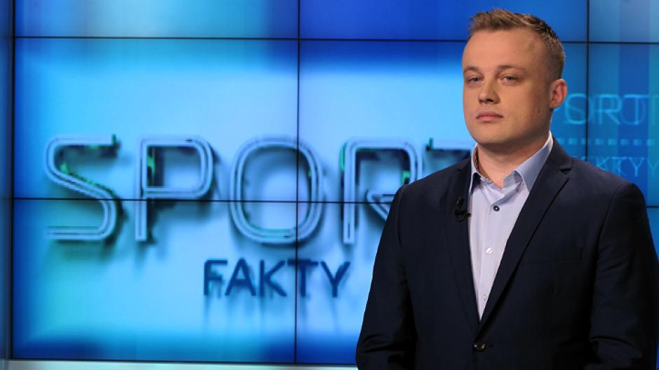 Jakub Mielczarek – studio Faktów Sport (fot. Łukasz Owsiany)