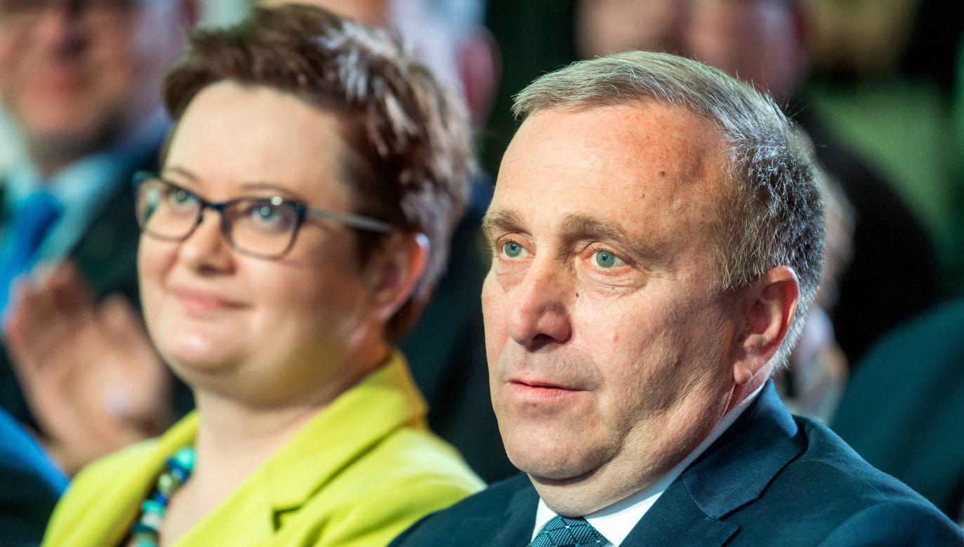Katarzyna Lubnauer (left) and Grzegorz Schetyna - leaders of Poland's opposition parties Civic Platform and Modern. Photo: PAP/Tytus Żmijewski