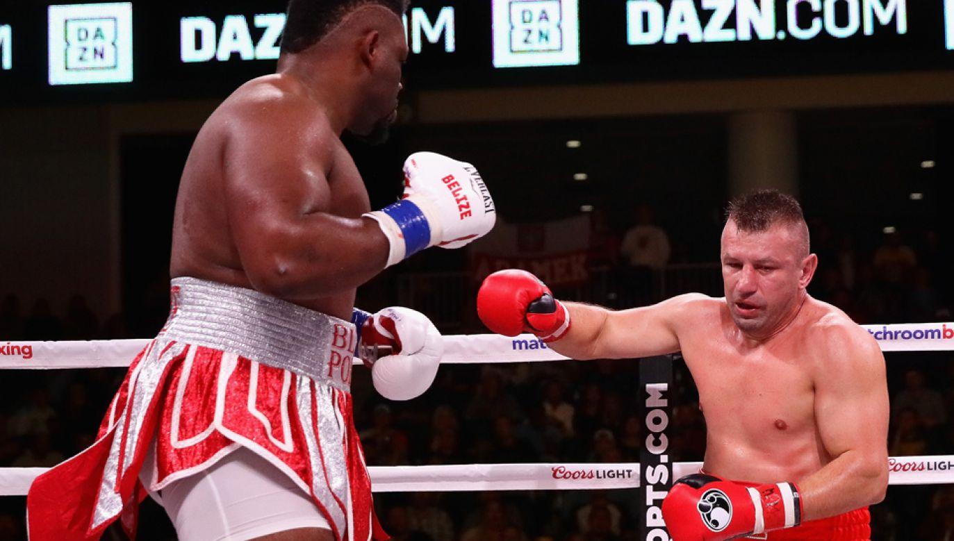 Na ringu w Chicago Jarrell  Miller znokautował Toamasza Adamka na początku drugiej rundy (fot. Jonathan Daniel/Getty Images)